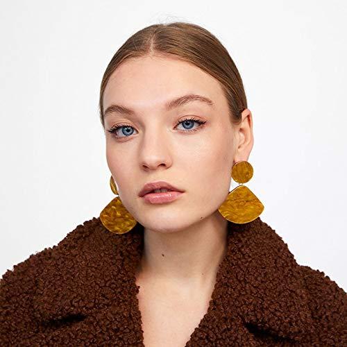Stud Earrings Vintage Yellow Sector Beach Pendant Earrings Statement New Dangle Earrings For Women Girl Gift Fashion Jewelry