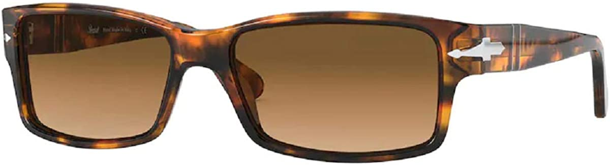 Persol PO2803S Rectangle Sunglasses for Men + FREE Complimentary Eyewear Kit