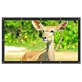 LXSMXJ 16: 9 HD 3D Pantalla de proyección montada en Pared HD 60/72/84/100/120 Pulgadas Pantalla de proyector Cortina de Lona de Fibra para el Cine en casa (Size : 72 Inch)