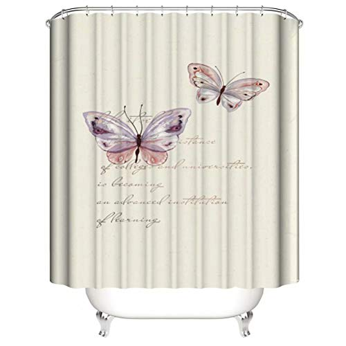 Butterfly. Shower Curtain. Bathroom Accessories. Waterproof. Contains 12 Hooks. Shower Curtain Rod Ring Hook. Background. Party. Living Room.