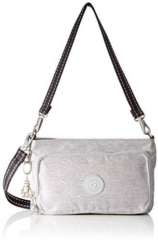 Kipling Damen Myrte Umhängetasche, Grau (Chalk Grey), 25x15x6.5 cm