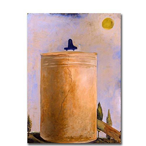 YXFAN Salvador Dali Tower Piano de cola y fuente Pintura al
