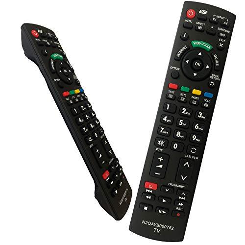 Reemplazo Mando Panasonic N2QAYB000752 Universal Mando a Distancia Repuesto para Panasonic TV Viera Reemplazo de Control Remoto para Panasonic TV N2QAYB000487 N2QAYB000352 N2QAYB000753 TX-L37G20E