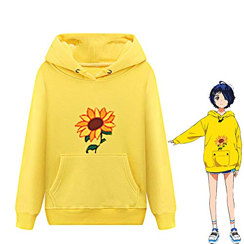 Ohto Ai - Sudadera con capucha para mujer, diseño de girasol, color amarillo