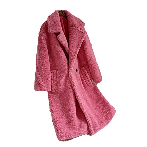 Outwear Invierno Rosa Largo Teddy Chaqueta De Las Mujeres Abrigo De 2020 Grueso Caliente De Gran Tamaño Sólido Abrigo Mujer De Imitación De Piel