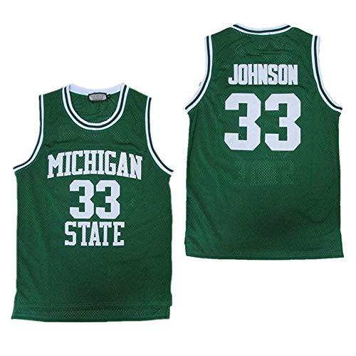 CYHW Los Hombres De Baloncesto Jersey NBA Magic Johnson 33 Formación Jeugd Deporte Ademend Kleding Green-L