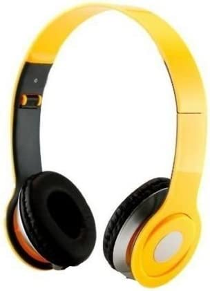 SoundStrike 3.5mm Foldable Headphone Headset for Dj Headphone Mp3 Mp4 Pc Tablet sandisc Music Video and All Other Music Players (Yellow)