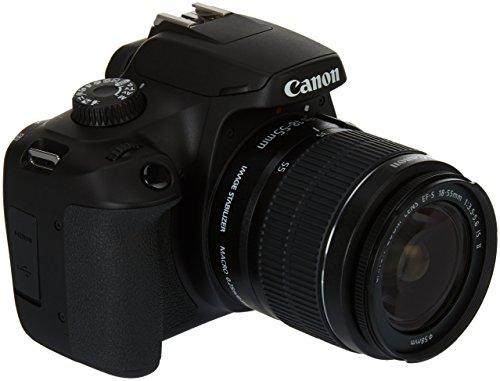 Canon EOS 4000D Kit 18-55mm III Digitale Spiegelreflexkamera EF-S 18-55mm is II 18 Mio. Pixel Schwar