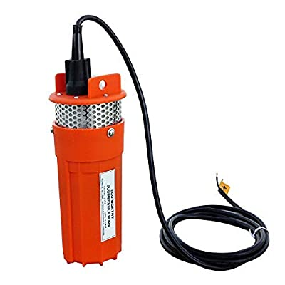 ECO-WORTHY 24V 12V Submersible Deep Well Water DC Pump Farm & Ranch Submersible Deep Well Pump/Alternative Energy Solar Battery Stainless Shell Submersible