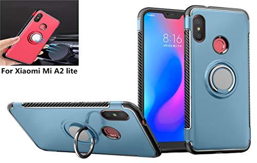 Beovtk Funda para Xiaomi Mi A2 Lite Case,360 Grados Giratorio Finger Ring Holder [Montaje de Coche…