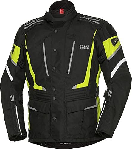 IXS X-Tour Powells-ST - Chaqueta textil para moto, color negro y amarillo, talla L