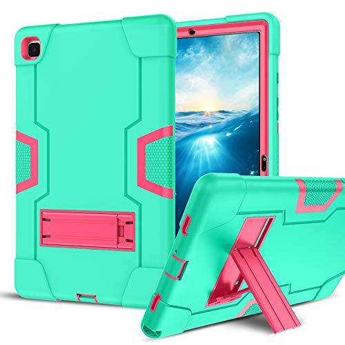 BENTOBEN - Carcasa para Samsung Galaxy Tab A7 10.4 2020, funda con función atril plegable híbrida de silicona, funda de protección antigolpes para Samsung Galaxy Tab A7 T505/T500/T507 Mint Green
