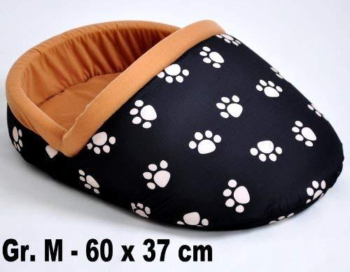 Hundebett Katzenbett Hundeliege Katzenliege Schuh Pantoffel M 60 x 37 cm schwarz