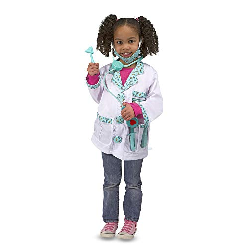 Melissa & Doug 4839 Doctor Role Play Costume Dress-Up Set (7 pcs),Green
