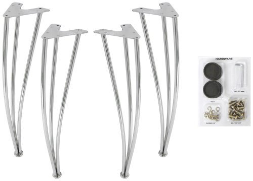 DHP Bentwood Chrome Legs, Set of 4 Chrome Legs. DHP Bentwood Table top Sold...