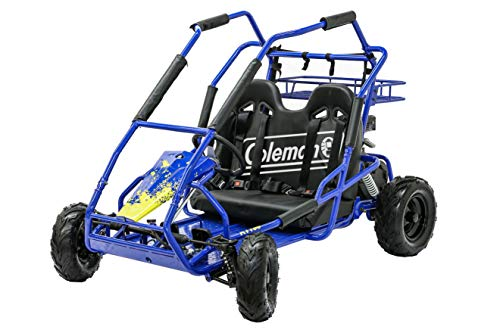 Coleman Powersports Off Road Go Kart, Gas Powered, 196cc/6.5hp, Blue (KT196-BL)