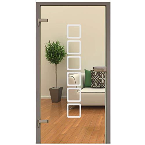 rs-interhandel Glastür Aufkleber Tattoo Folie Glasdekor Fensterfolie Sichtschutz Wohnzimmer, Bad, Küche oder für alle Glasflächen Sichtschutzfolie für Türen GDT001 118 cm x 17,5 cm