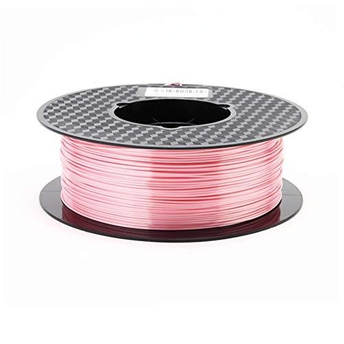 0.25KG 19 Colours of 3D Printer Filament, 1.75mm PLA Diameter, Shiny Metallic,3D Printer Filament for DIY Artwork Printing (Color : 19 Pink 250g)