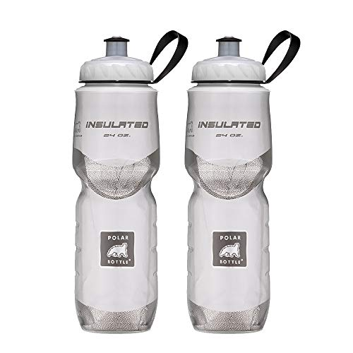Polar Bottle Insulated Water Bottle 24 oz, 2 Pack - 100% BPA-Free Water Bottle - Perfect Cycling or Sports Water Bottle