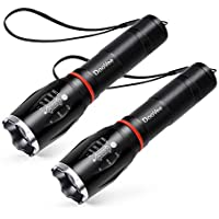 2-Pack LED High Lumen Tactical Flashlight with 5 Modes