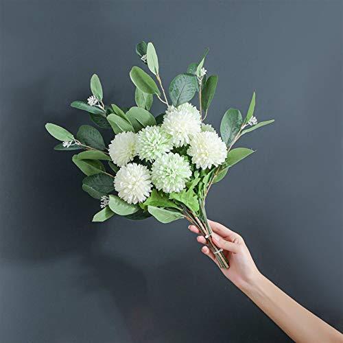 XBDD Eucalyptus Dandelion - Ramo de flores artificiales híbrido nórdico para casa,...