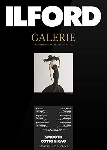 Ilford Galerie Prestige Smooth Cotton Rag 310g, A3+, 25 Hojas (Color Blanco)