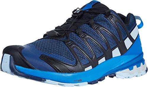 Salomon Herren Trail-Running-Schuhe, XA PRO 3D v8, Farbe: Blau (Sargasso Sea/Imperial Blue/Angel Falls), Größe: EU 44 2/3