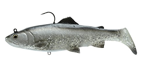 """Savage Gear 3D Real Trout 7"""" Sinking Swimbait, 2 2/3 oz, Dirty Silver"""
