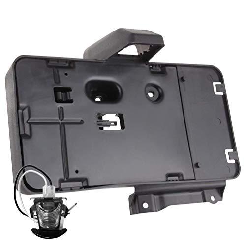 G008JP Black Rear License Plate Holder Frames Bracket with lamp For 2007-2016 Jeep Wrangler JK License Plates Mounting Bracket