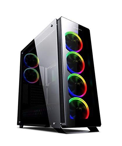 Price comparison product image SaharaGaming C500B ATX Black Tempered Glasses gaming case