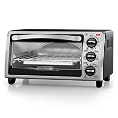 "EvenToast Technology - The toaster oven interior is specially designed for even toasting of up to 4 slices of bread at a time. 9"" Pizza, 4 Slices of Bread - The compact toaster oven fits nicely on the countertop, while the curved interior makes room ..."