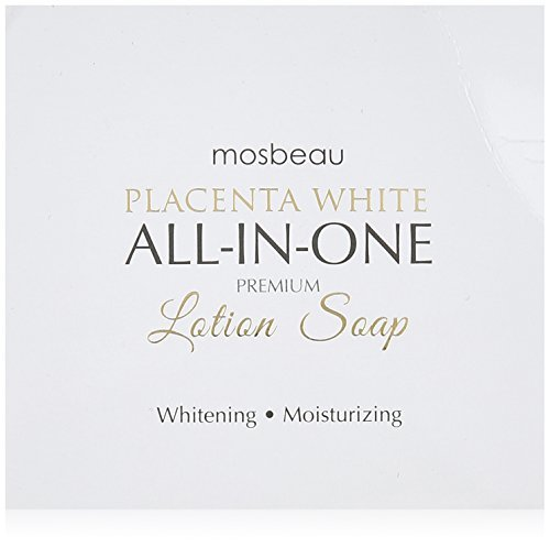 Mosbeau Placenta White Premium Facial Lotion Soap - Placenta Protein and Moisturizing Ingredients have Anti-Aging and Skin Brightening Effects. New 2015 Formula from Japan by Mosbeau