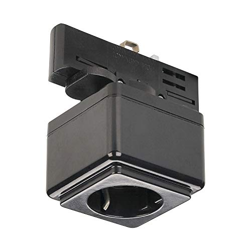 SLV STECKDOSE Indoor-Lampe Kunststoff Schwarz Lampe innen, Innen-Lampe