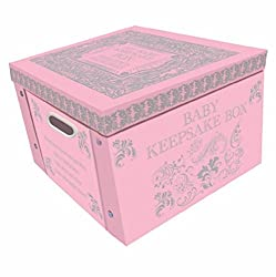 Perfect for storing your photographs, stationary, handbags, magazines, make-up and much more. Large collapsible storage box. Metal handles to make it easy to carry. Folds flat when not in use. Size (approx.) 36cm x 36cm x 23cm.