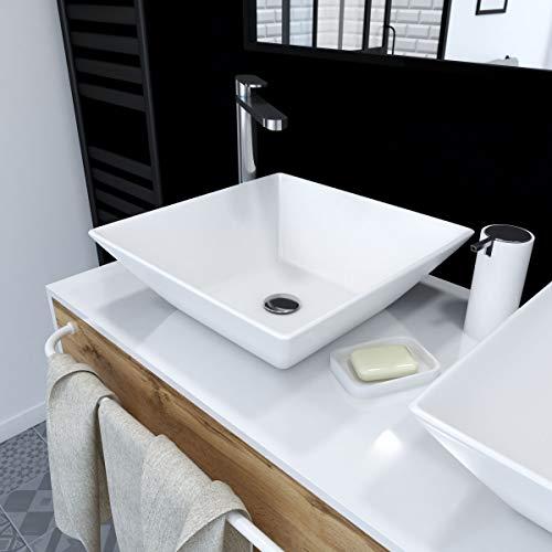 Aurlane VAS037 Aufsatzwaschtisch, Weiß