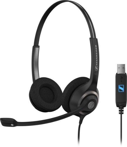 Sennheiser SC 260 USB Stereo-Headset mit Noise Canceling-Mikrofon schwarz