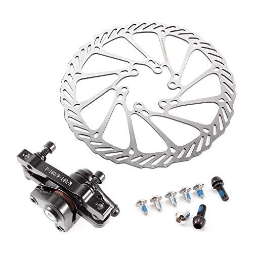 ToPicks Mechanical Disc Brake 160mm Rotor with 6 Bolts Front Rear Caliper for Road Bike Mountain Bike