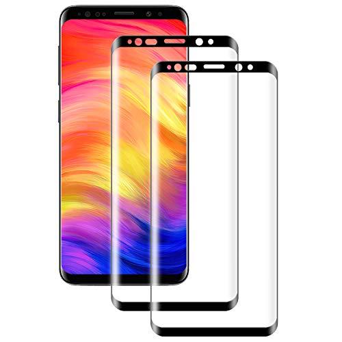 PUUDUU Cristal Templado para Samsung S9 Plus, [2 Piezas] Cobertura Completa, Resistente a Los Arañazos, Sin Burbujas, Película Protectora de Vidrio Templado para Samsung S9 Plus