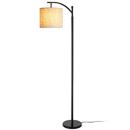 Zanflare LED Floor Lamp, Classic Arc Floor Lamp with Hanging Lamp Shade for Living Room, Bedroom, Den Office, Lounge, Energy Saving Bedside Floor Lamp with Long Lasting, Holiday Birthday Gifts