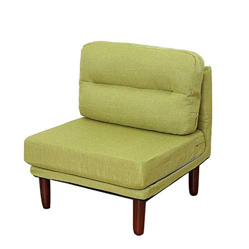 Feixunfan Fauteuil Mobilier De Salon Chaise Longue en Bois Rembourrés, Chambre Bureau Club Moderne Et Confortable Mode Canapé inclinable (Color : Green, Size : Free Size)