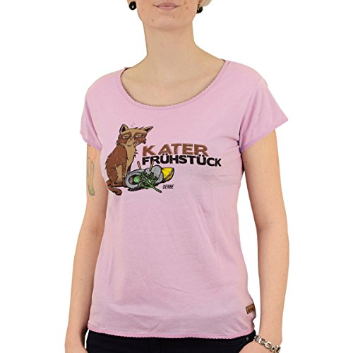 derbe Frauen T-Shirt Katerfrühstück Flieder - S