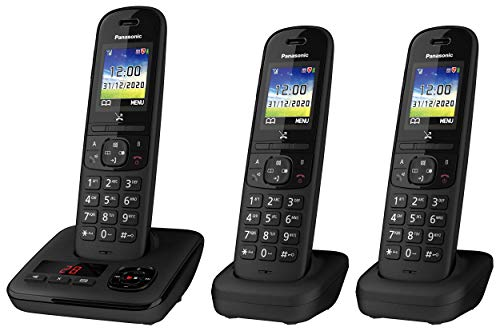 Panasonic KX-TGH723EB Digital Cordless Telephone with Automated Call Block, Enhanced Volume and Answering Machine