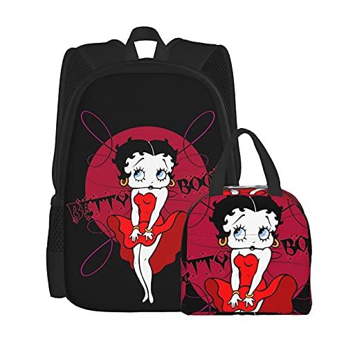 Mochila Betty Boop de dibujos animados y bolsa de...