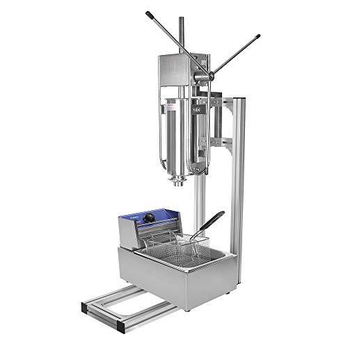 Churrera - Máquina de churros manual (5 L, con freidora eléctrica de...