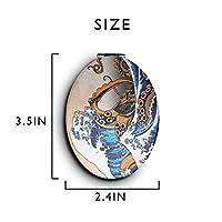 化粧鏡 コンパクトミラー 神奈川沖浪裏 手鏡 携帯ミラー 折りたたみ鏡 拡大鏡 両面ミラー