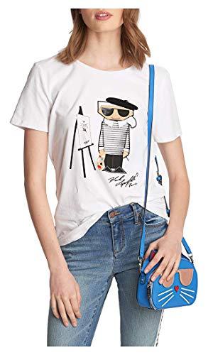 KARL LAGERFELD Paris Herren Picasso Karl Tee Hemd, Weiß (Soft White), Klein