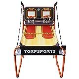 ZXQZ Shootout Basketball Arcade Game, Aficionado Al Baloncesto Plegable Juega 5 Bolas y Sistema Puntuación LED, Tablero Doble Borde, para 2 Jugadores