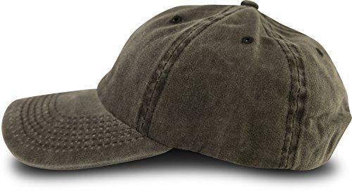 fashionchimp ® Baseballcap im Vintage Used-Look aus 100% Baumwolle, Unisex Jeans Denim Cap (Grau)