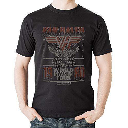 Men's Van Halen 1980 World Invasion Tour Faded T-shirt, S, M, L