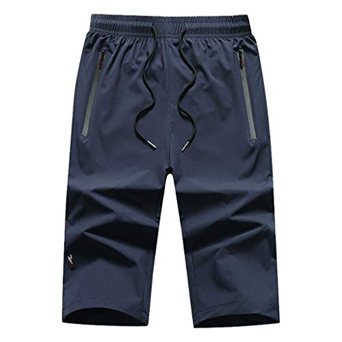 Momoxi Herren Casual Plus Size Shorts Kurz geschnittene Strandshorts Dunkelblau 3XL Baby Exklusive bademode große Cups bauchweg Bikini Bikini für Kinder Sporthose